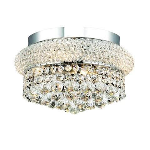 Elegant Lighting Chrome 12-inch Royal Cut Crystal Clear Flush Mount