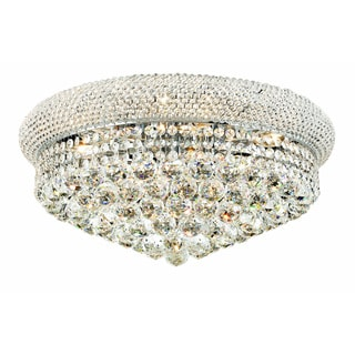 Elegant Lighting 20-inch Chrome Royal Cut Crystal Clear Flush Mount