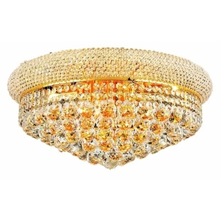 Elegant Lighting Gold 20-inch Royal Cut Crystal Clear Flush Mount