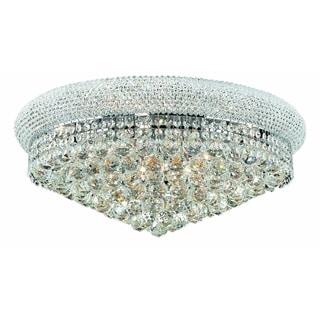 Elegant Lighting Royal Cut Chrome 24-inch Crystal Clear Flush Mount
