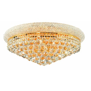 Elegant Lighting Gold 24-inch Royal Cut Crystal Clear Flush Mount