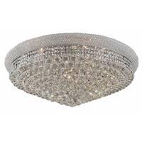 Elegant Lighting 36-inch Chrome Royal Cut Crystal Clear Flush Mount
