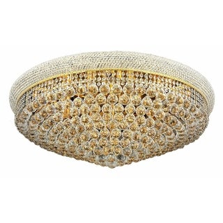 Elegant Lighting Royal Cut Crystal Clear Gold 36-inch Flush Mount