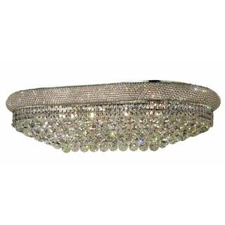 Elegant Lighting Chrome 36-inch Royal Cut Crystal Clear Flush Mount