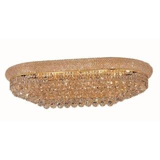 Elegant Lighting Gold 36-inch Royal Cut Crystal Clear Flush Mount