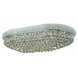 Elegant Lighting Chrome 40-inch Royal Cut Crystal Clear Flush Mount