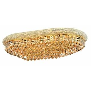 Elegant Lighting Gold 40-inch Royal Cut Crystal Clear Flush Mount