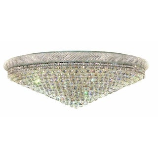Elegant Lighting Chrome 48-inch Royal Cut Crystal Clear Flush Mount