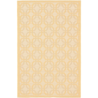 Ecarpetgallery Playa Ivory Light Gold Open Field Indoor Outdoor Rug (6'7 x 9'4)