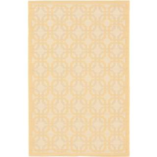 Ecarpetgallery Playa Ivory Light Gold Open Field Indoor Outdoor Rug (4'11 x 7'5)