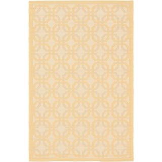 Ecarpetgallery Playa Ivory Light Gold Open Field Indoor Outdoor Rug (3'3 x 4'9)