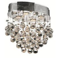 Elegant Lighting Chrome 16-inch Royal Cut Crystal Clear Flush Mount