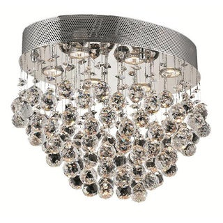 Elegant Lighting Chrome 20-inch Royal Cut Crystal Clear Flush Mount