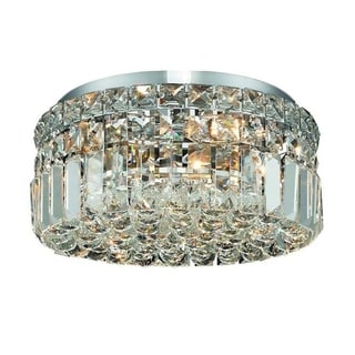 Elegant Lighting Royal Cut Crystal Clear 4-light Chrome 12-inch Flush Mount