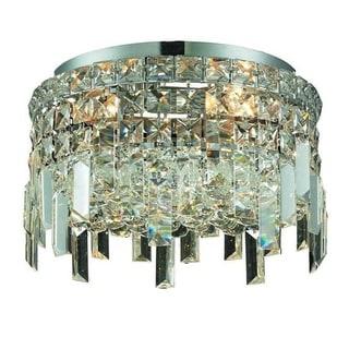 Elegant Lighting Crystal Clear 4-light Chrome 12-inch Royal Cut Flush Mount