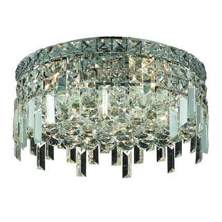 Elegant Lighting 5-light Chrome 16-inch Royal Cut Crystal Clear Flush Mount