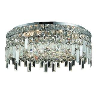 Elegant Lighting 6-light Chrome 20-inch Royal Cut Crystal Clear Flush Mount