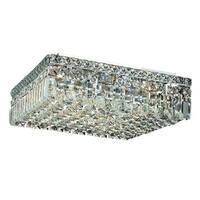 Elegant Lighting Chrome 6-light 16-inch Royal Cut Crystal Clear Flush Mount