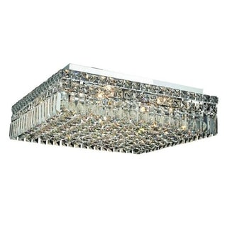 Elegant Lighting Chrome 12-light 20-inch Royal Cut Crystal Clear Flush Mount