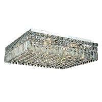 Elegant Lighting Chrome 12-light 20-inch Royal Cut Crystal Clear Flush Mount
