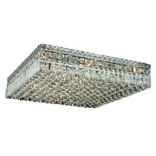 Elegant Lighting Chrome 24-inch Royal Cut Crystal Clear Flush Mount