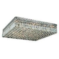 Elegant Lighting Chrome 24-inch Royal Cut Crystal Clear Flush Mount