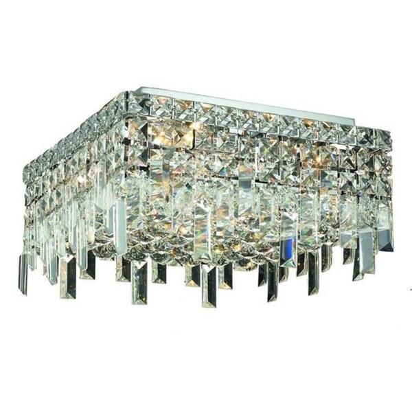 Elegant Lighting 12-inch Chrome 4-light Royal Cut Crystal Clear Flush Mount