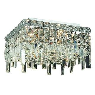 Elegant Lighting 5-light Chrome 14-inch Royal Cut Crystal Clear Flush Mount