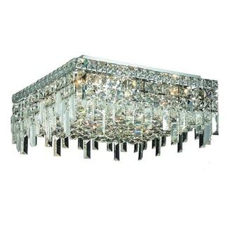 Elegant Lighting 16-inch 6-light Chrome Royal Cut Crystal Clear Flush Mount