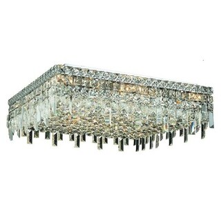 Elegant Lighting 13-light Chrome 24-inch Royal Cut Crystal Clear Flush Mount