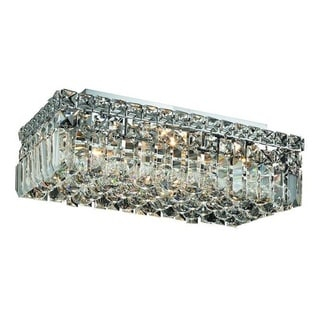 Elegant Lighting Royal Cut 4-light Chrome 16-inch Crystal Clear Flush Mount