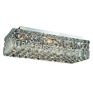 Elegant Lighting 20-inch 4-light Chrome Royal Cut Crystal Clear Flush Mount