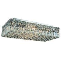 Elegant Lighting 24-inch 6-light Chrome Royal Cut Crystal Clear Flush Mount