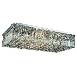 Elegant Lighting 24-inch 6-light Chrome Royal Cut Crystal Clear Flush Mount