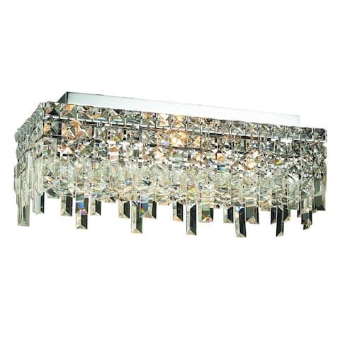 Elegant Lighting 4-light Chrome 20-inch Royal Cut Crystal Clear Flush Mount