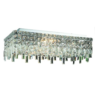 Elegant Lighting 6-light Chrome 24-inch Royal Cut Crystal Clear Flush Mount