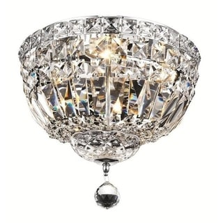 Elegant Lighting 4-light Chrome 12-inch Royal Cut Crystal Clear Flush Mount