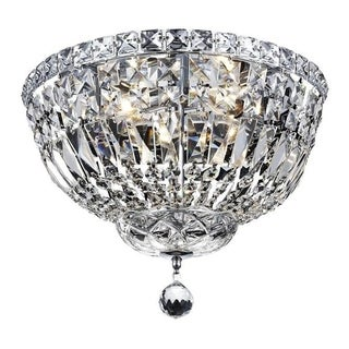 Elegant Lighting 4-light Chrome 14-inch Royal Cut Crystal Clear Flush Mount