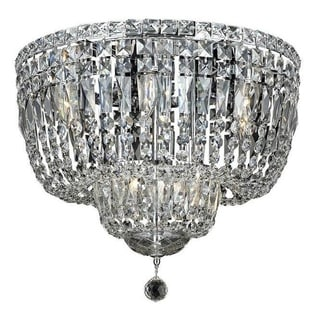 Elegant Lighting 10-light Chrome 20-inch Royal Cut Crystal Clear Flush Mount