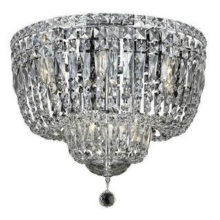 Elegant Lighting 10-light Chrome 20-inch Royal Cut Crystal Clear Flush Mount