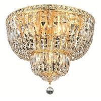 Elegant Lighting 10-light Gold 20-inch Royal Cut Crystal Clear Flush Mount