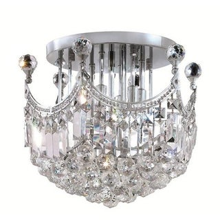 Elegant Lighting Crystal Clear Chrome 6-light 16-inch Royal Cut Flush Mount