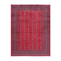 Herat Oriental Pakistani Hand-knotted Bokhara Wool Rug (8'10 x 11'8)