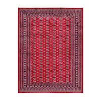 Herat Oriental Pakistani Hand-knotted Bokhara Wool Rug (8'10 x 11'8) - 8'10 x 11'8
