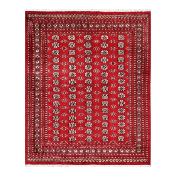 Shop Herat Oriental Pakistan Hand Knotted Bokhara Red: Shop Handmade Herat Oriental Pakistani Bokhara Wool Rug