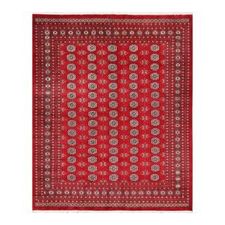 Herat Oriental Pakistani Hand-knotted Bokhara Wool Rug (8'2 x 10')