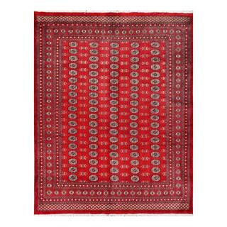 Handmade Herat Oriental Pakistani Bokhara Wool Rug (Pakistan) - 8' x 10'3