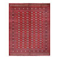 Herat Oriental Pakistani Hand-knotted Bokhara Wool Rug (8'1 x 10'3) - 8'1 x 10'3