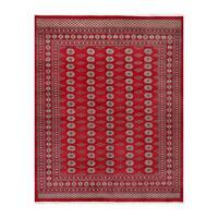 Handmade Herat Oriental Pakistani Bokhara Wool Rug  - 8'2 x 10'3 (Pakistan)