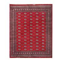 Herat Oriental Pakistani Hand-knotted Bokhara Wool Rug (8'2 x 10'3) - 8'2 x 10'3
